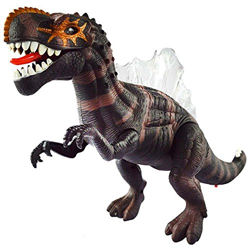[Electronic Dinosaur Toys Sounding Flashing Moving Gift for Children and Kids (Brown)] (Transformers 4 Lockdown Costume)