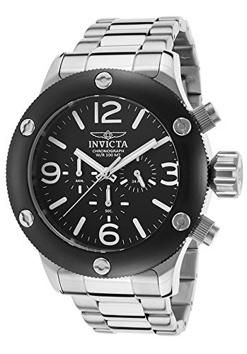 Invicta 18583 Men's Russian Diver Chronograph Stainless Steel Black Dial