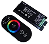 RGB Controller, Vasten RF RGB Controller DC12-24V with LED Wireless IR Remote Controller Touch Screen For RGB LED Strip LED Neon Control Dimmable (RGB)