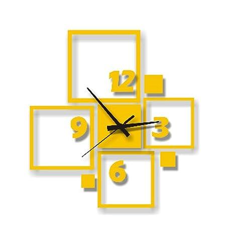Komo Nuevo cuadro creativo personalizado relojes simple salón estudio decorativo tridimensional moderno de pared Reloj de