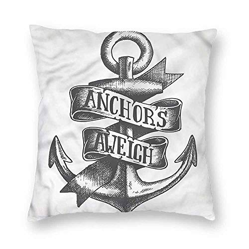 clayii Anchor Pillow Case Tattoo Style Old Symbol