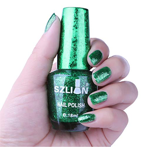 CCatyam Nail Polish, Gel Art Glue, 18ml Sequins Quick Dry Manicure Remover Paste Liquid Lasting Fashion