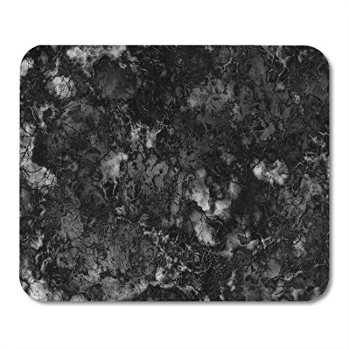 - Emvency Mouse Pads Gray Granite Marble Black and White Pattern Rock Polished Wall Mousepad 9.5