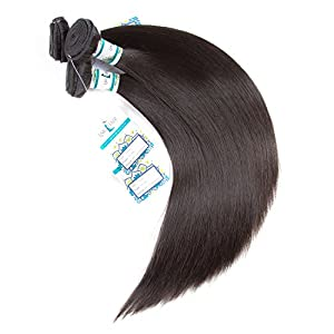 3 Bundles Brazilian Hair 7A 100% Virgin Unprocessed Straight Human Hair 14 16 18inches Lakihair Brazilian Straight Human Hair Extensions