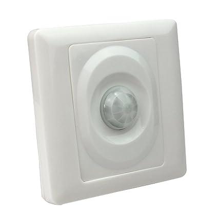 RHX - Lámpara de techo con sensor de movimiento infrarrojo, color blanco