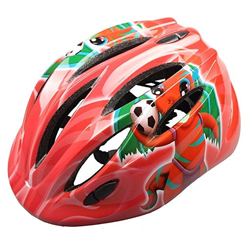 Bicycle Secure Helmet, Mini Ultralight Safety Headguard Adjustable Bike Cycling Protective Harnesses Cap (Bee and (Rudy Dinosaur Costume)