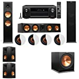 Dolby Atmos 5.1.4 Klipsch RP-280F Tower Speakers R-115SW with Denon AVR-X4300H