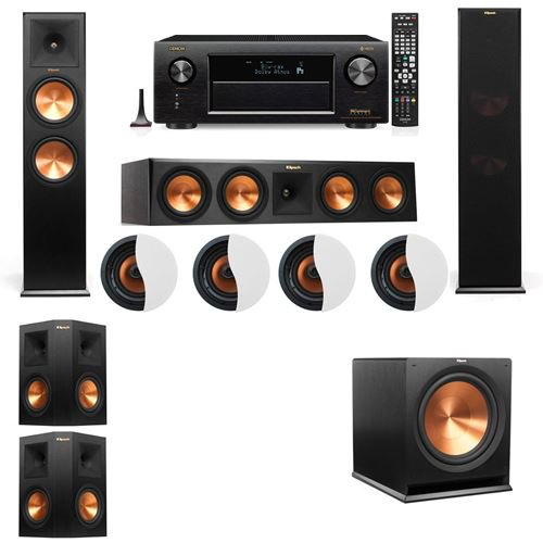 Dolby Atmos 5.1.4 Klipsch RP-280F Tower Speakers R-115SW with Denon AVR-X4300H by Klipsch