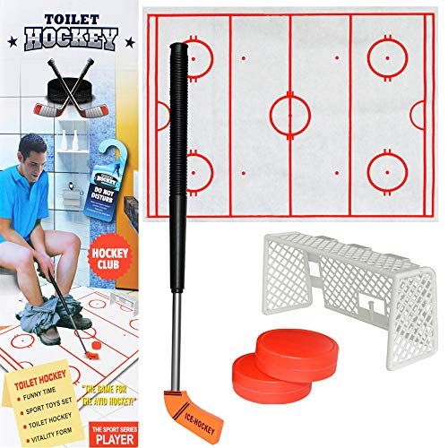 Misc Border - DEESEE(TM) NewToilet Hockey Game Decompression Fun Game Ice-hockey Toy