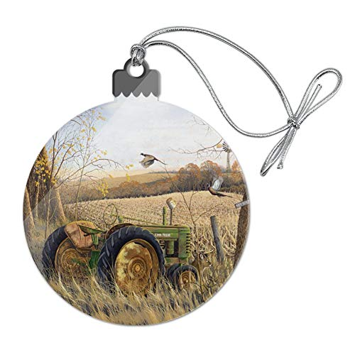 GRAPHICS & MORE Tractor on The Farm Acrylic Christmas Tree Holiday Ornament