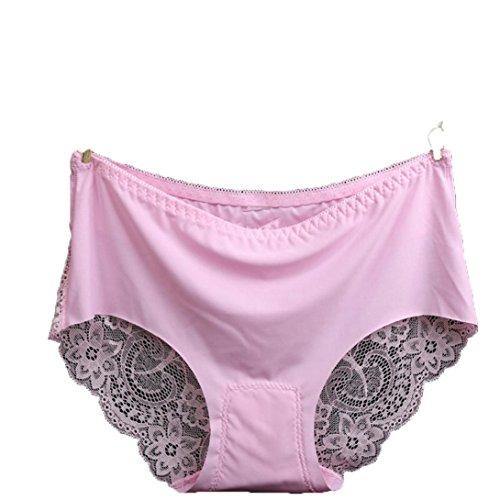 DETALLAN Women Lace Hollow Briefs Underwear (Light Pink) - 50a Costume