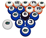 UF University of Florida Gators NCAA Collegiate Billiards Pool Ball Sets College