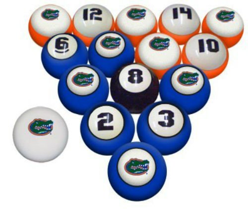 UF University of Florida Gators NCAA Collegiate Billiards Pool Ball Sets College (Set Ball Florida Billiard)