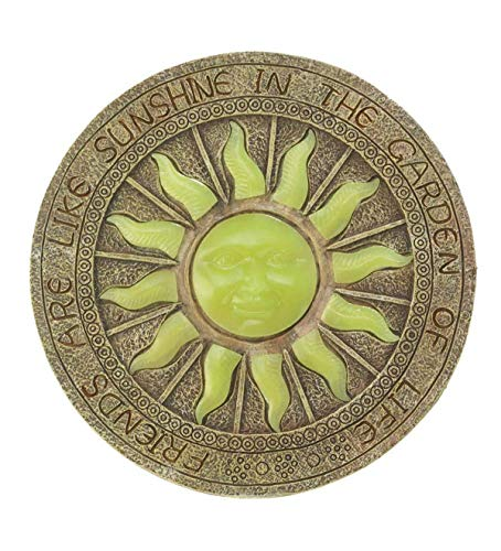 Plow & Hearth Solar Sun Glow-in-The-Dark Garden Stepping Stone - 10 ()