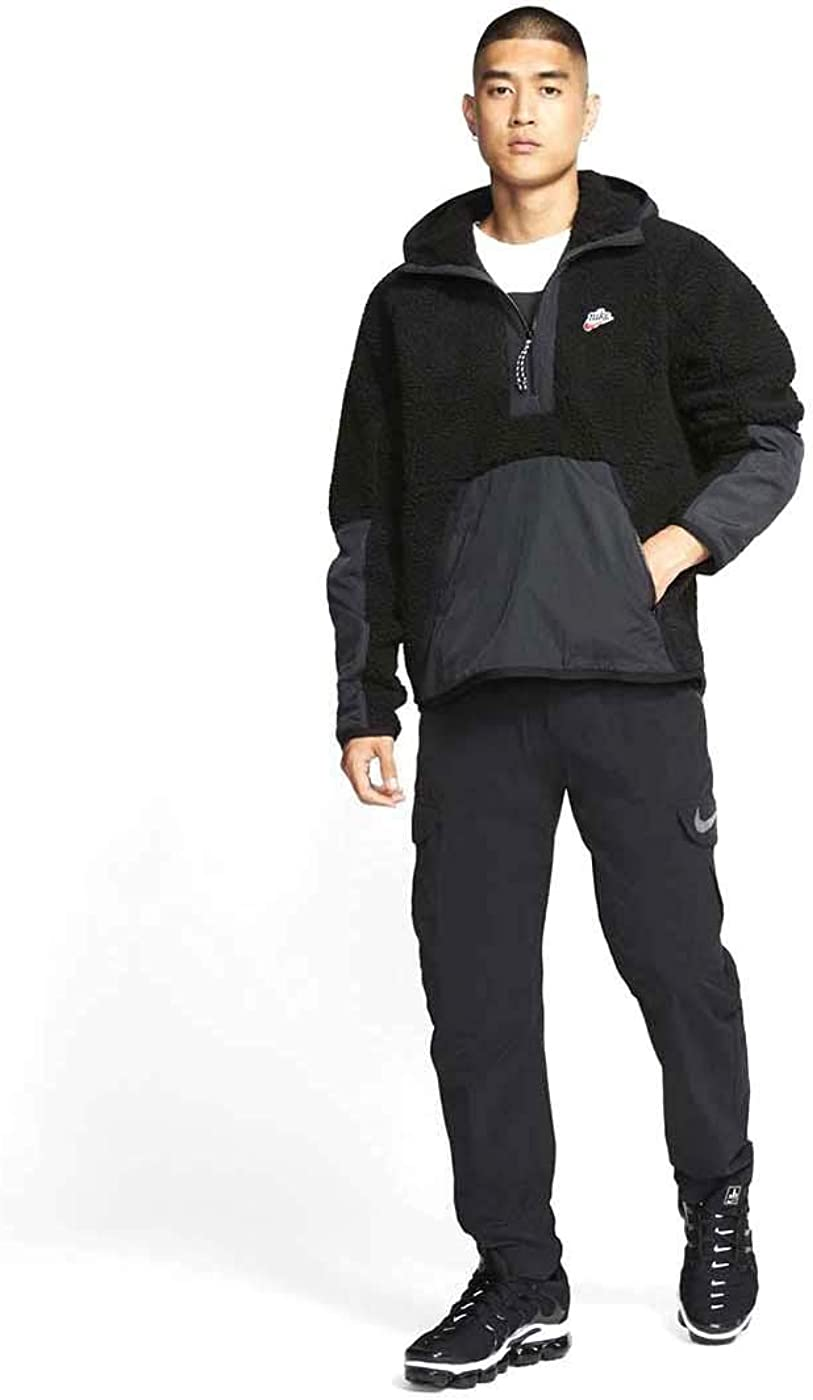 Especialmente intervalo arrepentirse  Amazon.com: Nike Mens NSW Half Zip 1/2 Zip Sherpa Hoodie Winterized Jacket  Bv3766-010: Clothing