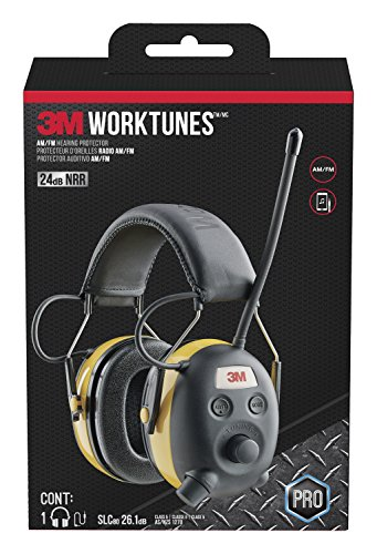 - 3M WorkTunes Connect Hearing Protector, Wired - 90541-80025T