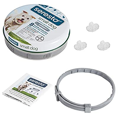 Flea and tick Prevention for Dogs Under 18 Lb, Adjustable & Waterproof Flea and Tick Collar from Cfdeer