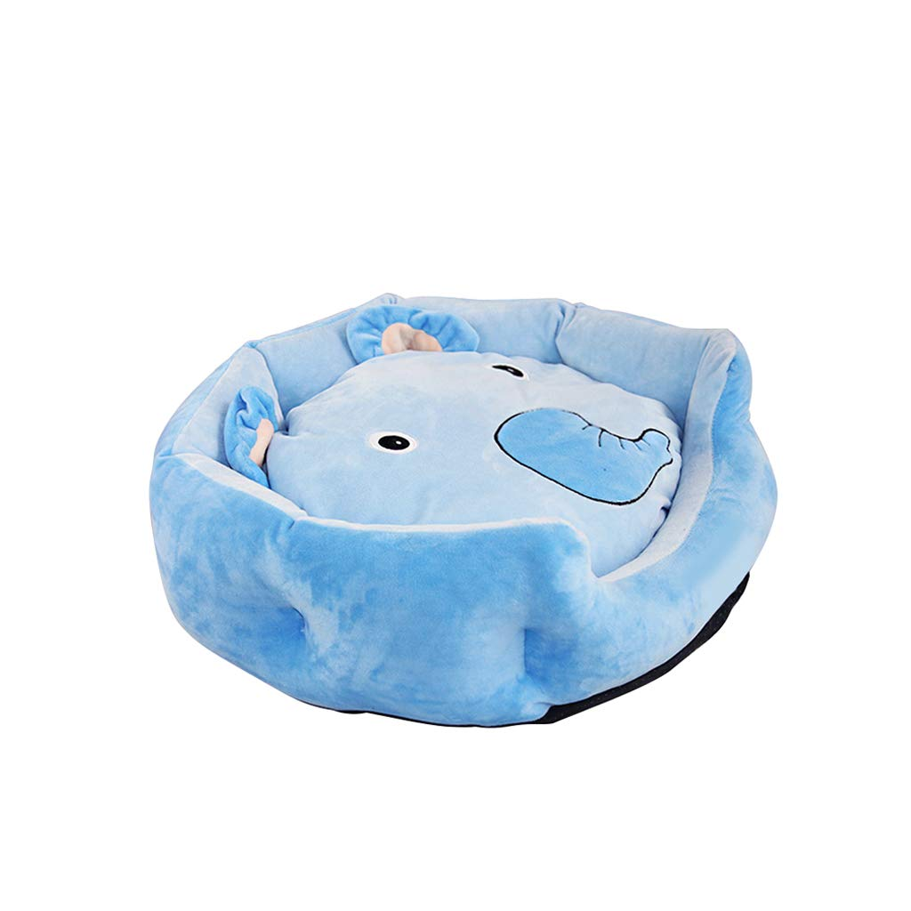 bluee STLTLCWW Dog Bed, Removable And Washable Indoor Four Seasons Universal Pet Bed Small Medium Dog Cat Bed Pet Mat, Multicolor Optional (color   bluee, Size   S)