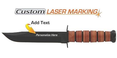 Amazon.com: Cuchillo de Ka-Bar con grabado láser ...