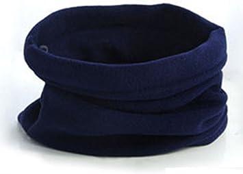 Braga para el cuello, azul marino, algodón, bufanda para ...