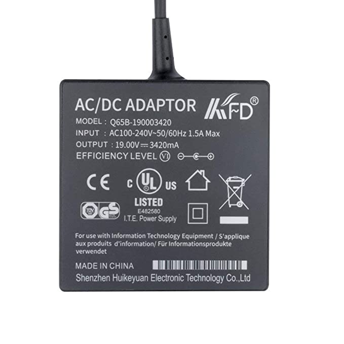 KFD 65W Cargador portátil Adaptador para Asus VivoBook S500CA S500C S550CA S550CM S300 S400 S550 R503U R510C R510CA R510L X401 X401A X501 X501A X502CA ...