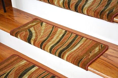 High Quality Dean Modern DIY Bullnose Carpet Stair Treads   Jazzy Terra Cotta   Set Of 13
