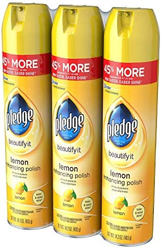 Pledge Furniture Spray, Lemon (14.2oz., 3pk.)