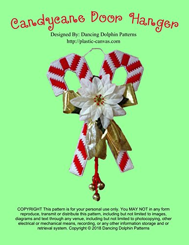 Candy Needlepoint (Candy Cane Door Hanger: Plastic Canvas Pattern)