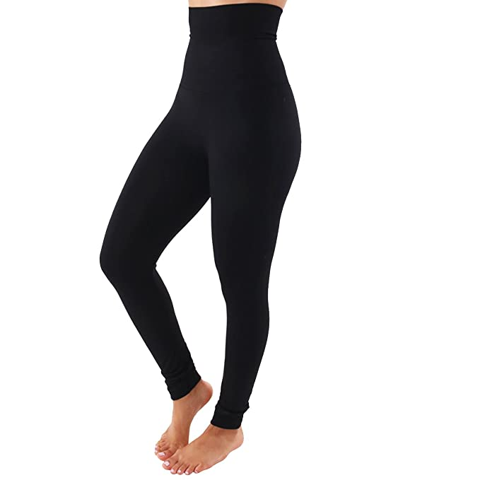fa8f46616ad TD Collections Women s High Waist Fleece Lined Leggings - Buttery Soft  Stretchy Slimming Pants - Tummy