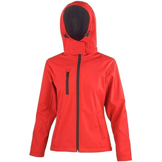 Result Core Womens//Ladies Lite Hooded Softshell Jacket