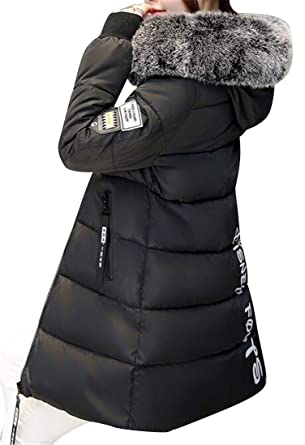 4588a470a Amazon.com: Jotebriyo Women's Faux Fur Hooded Winter Longline Warm ...