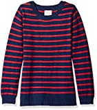 Scout + Ro Little Girls' Stripe Sweater Tunic, Red, 6