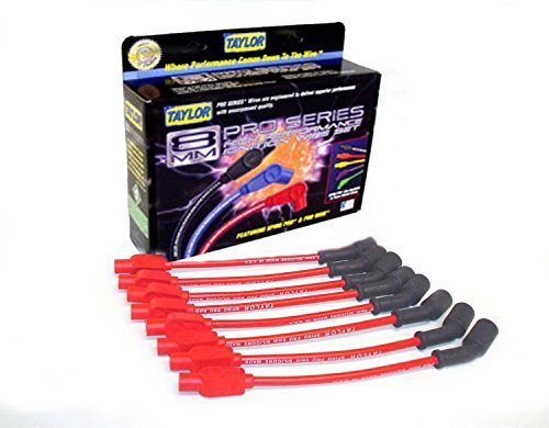 Taylor Cable 72205 Red Custom 8mm Spiro-Pro Ignition Wire (8 Mm Spark Plug Wires)