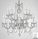 Crystal Chandelier Lighting Chandeliers W/Candle Votives H25 X W24- For Indoor/Outdoor Use! Great for Outdoor Events, Hang from Trees/Gazebo/Pergola/Porch/Patio/Tent ! Review