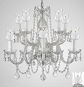 Crystal chandelier lighting chandeliers w candle votives h25 x crystal chandelier lighting chandeliers w candle votives h25 x w24 for indoor outdoor use great for outdoor events hang from trees gazebo mozeypictures Choice Image