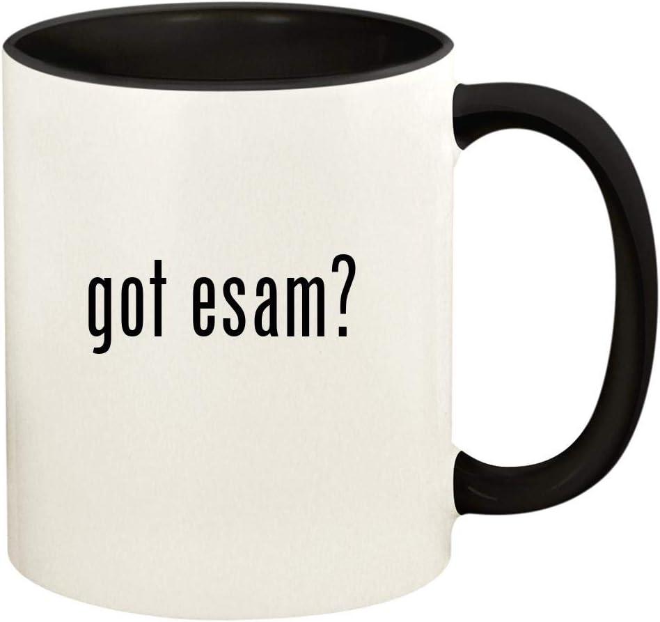 got esam? - 11oz Ceramic Colored Handle and Inside Coffee Mug Cup, Black
