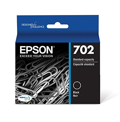 Epson T702120 DURABrite Ultra Black Standard Capacity Cartridge Ink