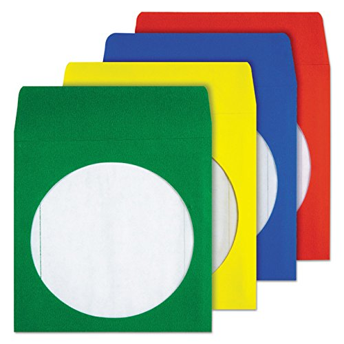 - Quality Park CD/DVD Envelopes, Assorted Colors, Pack of 50 (68905)