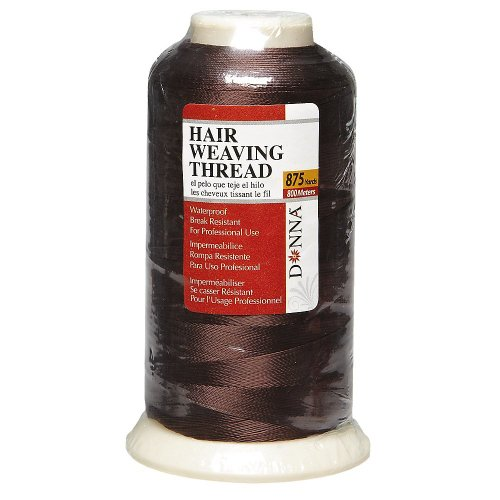 Donna Waterproof Professional Hair Weaving Thread Brown #0678