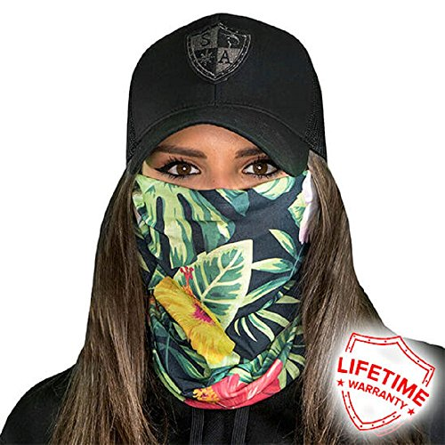 Hawaiian Floral Bands - Face Shields for Women! SA CO Official Salt Armour Headbands (Hawaiian Floral)