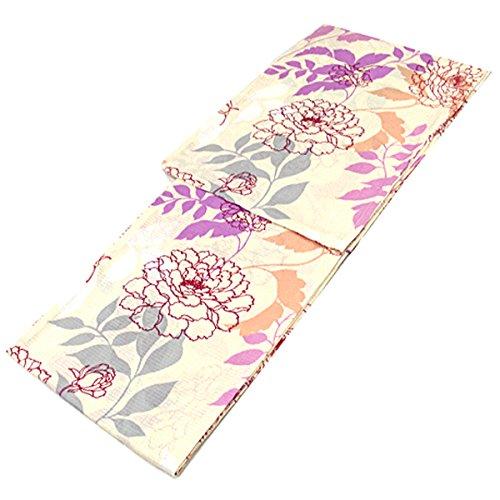 ジュース人無臭浴衣 レディース -53- 綿100% 綿紅梅 フリーサイズ ベージュ 花柄
