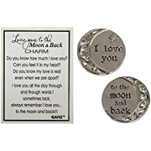 Love You to the Moon and Back 1 Inch Pocket Charm With Story Card