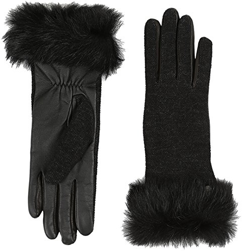UGG Women's Smart Fabric Gloves w/ Toscana Trim Black Multi MD