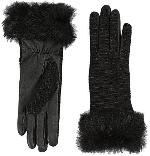 UGG Women's Smart Fabric Gloves w/ Toscana Trim Black Multi MD