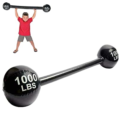 120cm Inflatable Barbell Fake Dumbell Lifting Strongman Fancy Dress Accessory for Circus Props Party Decoration Black: Sports & Outdoors [5Bkhe0306543]