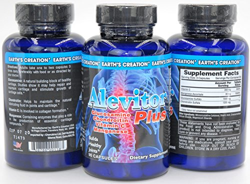 3 Mg 30 Cap (Alevitor Plus | Triple Strength Glucosamine | 30MG Manganese | Chondroitin | Vitamin C | For Healthy Joints | 90 Caps)