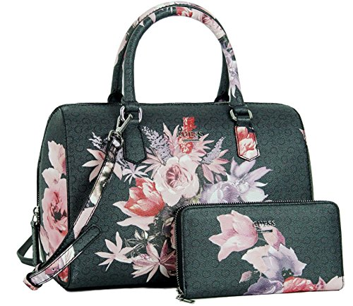 Guess Rose Floral Satchel Bag Handbag Purse & Wallet Set by GUESS