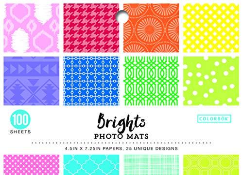 (ColorBok 68220 Designer Photo Mats Brights Paper Pad Multicolor)