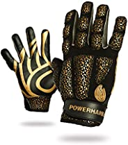 POWERHANDZ Weighted Anti-Grip Basketball Gloves for Ball Handling, Improved Dribbling, Strength and Resistance