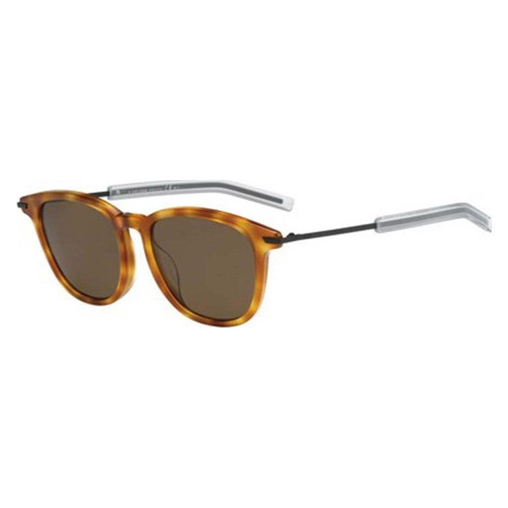 495545ef71e46 Dior Homme BLACKTIE195FS-MZZ-SP-51 Mens Black Tie 195 F S MZZ SP Havana  Black Polarized Sunglasses